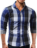 cheap Men's Shirts-Men's Cotton Shirt - Check