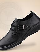 abordables Abrigos y Gabardinas de Mujer-Hombre Cuero de Napa Primavera & Otoño Confort Zapatos de taco bajo y Slip-On Negro / Marrón / Boda