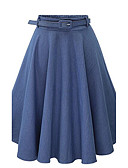 cheap Women's Pants-Women's Street chic A Line Skirts - Solid Colored