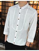 preiswerte Herren Polo Shirts-Herrn Solide - Freizeit Baumwolle Hemd