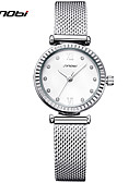 cheap Quartz Watches-SINOBI Women's Bracelet Watch Chinese Water Resistant / Water Proof / Shock Resistant Metal / Alloy Band Charm / Luxury / Vintage Silver / Two Years / Sony SR626SW