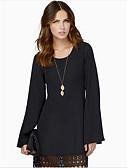 preiswerte Mode für Mädchen-Damen Schick & Modern Lose Kleid - Moderner Stil, Solide Übers Knie