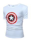 abordables Camisetas y Tops de Hombre-Hombre Activo Punk & Gótico Playa Estampado - Algodón Camiseta, Escote Redondo
