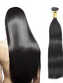 olcso Esküvői ajándékok-Febay Fúziós / I típus Human Hair Extensions Egyenes Emberi haj tincsek Szűz haj 8a Női - Eperszőke Mogyoróbarna Blonde / Pink