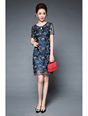 cheap Women's Dresses-Women's Going out Vintage / Chinoiserie Slim Sheath Dress - Embroidered Artistic Style