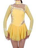 cheap Ice Skating Dresses , Pants & Jackets-Figure Skating Dress Women's / Girls' Ice Skating Dress Daffodil Spandex Rhinestone High Elasticity Performance Skating Wear Handmade