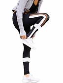 voordelige Hardloopshirts, -broeken en -shorts-Dames Patchwork Strakke hardloopbroek / Fitnessleggings Sport Gestreept Fietsen Tights / Lange Broek Sportkleding Fitness, Running &