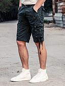 baratos Calças e Shorts Masculinos-Homens Tamanhos Grandes Algodão Solto Shorts Largo Calças - Sólido