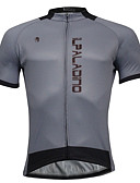 cheap Women's Blouses-ILPALADINO Men's Short Sleeve Cycling Jersey - Gray Bike Jersey, Quick Dry Polyester, Coolmax®