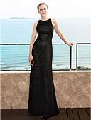 זול שמלות ערב-מעטפת \ עמוד עם תכשיטים עד הריצפה שיפון שמלה לשושבינה  עם קפלים על ידי LAN TING BRIDE®