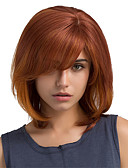 halpa Pukukello-Ihmisen hiukset Capless Peruukit Aidot hiukset Suora / Classic Koneella valmistettu Peruukki Päivittäin