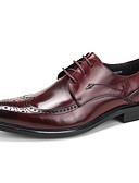 ieftine Paltoane Trench Femei-Bărbați Pantofi formali Piele Primăvară / Toamnă pantofi de nunta Negru / Vișiniu / Nuntă / Party & Seară / Bullock Pantofi
