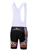 זול חולצות פולו לגברים-Miloto בגדי ריקוד נשים מכנס קצר ביב לרכיבה אופניים מכנסיים קצרים עם כתפיות / שורטים (מכנסיים קצרים) מרופדים / תחתיות פוליאסטר, ספנדקס לבן