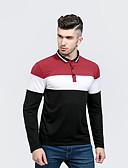 cheap Men's Polos-Men's Street chic Polo - Color Block Shirt Collar