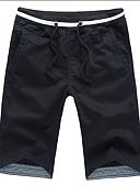 olcso Férfi nadrágok és rövidnadrágok-Férfi Aktív Pamut Egyenes Pamutszövet nadrág Nadrág Egyszínű