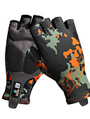 cheap Women's Two Piece Sets-Sports Gloves Bike Gloves / Cycling Gloves Wearable Breathable Durable Skidproof Fingerless Gloves PU Leather Lycra Spandex Road Cycling