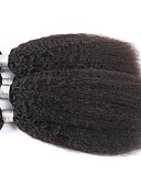 preiswerte Krawatten & Fliegen-Indisches Haar Kinky Glatt / Yaki Remi-Haar Menschenhaar spinnt Menschliches Haar Webarten Haarverlängerungen
