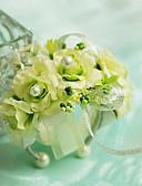 "baratos Véus de Noiva-Bouquets de Noiva Buquê de Pulso Casamento Chifon Seda Algodão Cetim 3.94""(Aprox.10cm)"