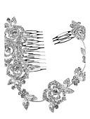 ieftine Rochii de Banchet-Cristal Diademe Banderolele Îmbrăcăminte de păr Flori Veșminte de cap Lantul Capului with Floral 1 buc Nuntă Ocazie specială Aniversare