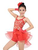 ieftine Ținute De Dans De Copii-Ținute de Dans Copii Ținute Performanță Organza / Lycra Paiete Fără manșon Natural / Balet / Dans modern / Jazz