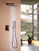 povoljno Zentai odijela-Slavina za tuš - Starinski / Jednostavan / Klasik Lakirana bronca Zidne slavine Keramičke ventila Bath Shower Mixer Taps / Brass / Jedan obrađuju tri rupe