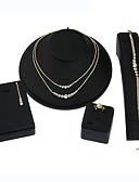preiswerte Hübsche sexy Damenkleidung-Damen Geometrisch Schmuck-Set - Strass Geometrisch Einschließen Halskette / Ohrringe Braut-Schmuck-Sets Gold / Silber Für Hochzeit Party Geburtstag