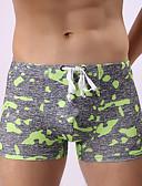cheap Men's Swimwear-Men's Color Block Green Orange Pink Swim Trunk Bottoms Swimwear - Camo / Camouflage M L XL Green / 1 Piece