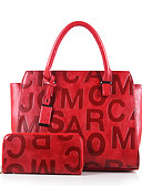 cheap Men's Blazers & Suits-Women's Bags PU(Polyurethane) Bag Set Zipper Black / Red / Brown