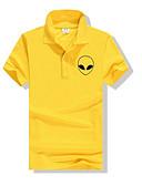 cheap Men's Polos-Men's Sports Polo - Solid Colored Print Shirt Collar