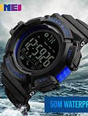cheap Sport Watches-Men's Sport Watch / Military Watch / Smartwatch Chinese Calendar / date / day / Chronograph / Water Resistant / Water Proof Silicone Band Charm / Casual / Fashion Multi-Colored / Remote Control / RC