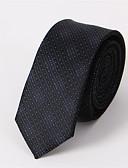 olcso Férfi nyakkendők és csokornyakkendők-Férfi Egyszínű Pamut, Nyakbavaló - Nyakkendő