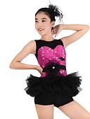 hesapli Göbek Dansı Giysileri-Çocuk Dans Kıyafetleri / Caz Elbiseler Kadın's Performans Polyester / Dantelalar / Organze Payet / Fırfırlı / Çiçekli Kolsuz Düşük / Amigo Kostümleri / Modern Dans