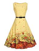 cheap Women's Dresses-Women's Vintage Street chic Swing Dress Print