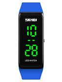 cheap Sport Watches-SKMEI Women's Sport Watch Wrist Watch Digital Watch Japanese Digital 30 m Water Resistant / Water Proof Calendar / date / day Luminous PU Band Digital Fashion Black / Blue / Red - Red Green Blue Two
