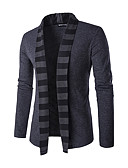 cheap Men's Sweaters & Cardigans-Men's Weekend Long Sleeves Wool Slim Cardigan - Striped