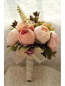"baratos Presentes de Casamento-Bouquets de Noiva Buquês Casamento Tafetá / Chifon / Renda 11.02""(Aprox.28cm)"