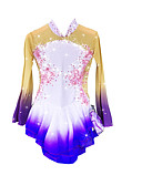 cheap Ice Skating Dresses , Pants & Jackets-Figure Skating Dress Women's / Girls' Ice Skating Dress Purple Spandex Rhinestone / Appliques High Elasticity Performance Skating Wear