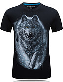cheap Men's Tees & Tank Tops-Men's Sports Active Plus Size Cotton T-shirt - Animal Round Neck