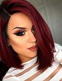 olcso Zokni és harisnya-Szintetikus parókák Női Egyenes Piros Bob frizura Szintetikus haj Piros Paróka Rövid Sapka nélküli Piros