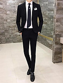 cheap Men's Blazers & Suits-Men's Simple Casual Suits-Solid Colored Notch Lapel / Long Sleeve / Work