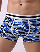 cheap Men's Underwear & Socks-Men's Boxers Underwear - Print, Camouflage 1 Piece Mid Rise