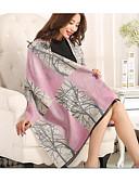cheap Fashion Scarves-Women's Silk Cotton Rectangle Print