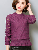 preiswerte Bluse-Damen Solide - Anspruchsvoll Bluse, Ständer