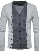 זול סוודרים וקרדיגנים לגברים-צמר קולור בלוק - קרדיגן רזה צווארון V סוף שבוע בגדי ריקוד גברים