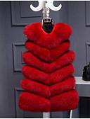 זול מעיל פרווה-אחיד מידות גדולות וסט - בגדי ריקוד נשים דמוי פרווה