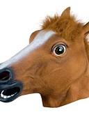 זול מכנסיים ושורטים לגברים-מסכות ליל כל הקדושים (האלוווין) מסכת חיה סוס אוכל ומשקאות גוּמִי דֶבֶק מבוגרים יוניסקס בנים בנות צעצועים מתנות 1 pcs