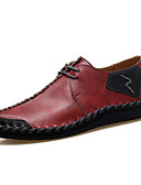 cheap Men's Shirts-Men's Shoes Nappa Leather Spring / Summer Comfort Oxfords Black / Brown / Wine