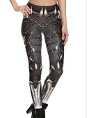 cheap Leggings-Women's Sporty Legging - Geometric, Print Mid Waist / Skinny