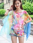 cheap Women's Scarves-Women's Cotton Rectangle - Rainbow Print