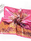 cheap Fashion Scarves-Women's Silk Square Print